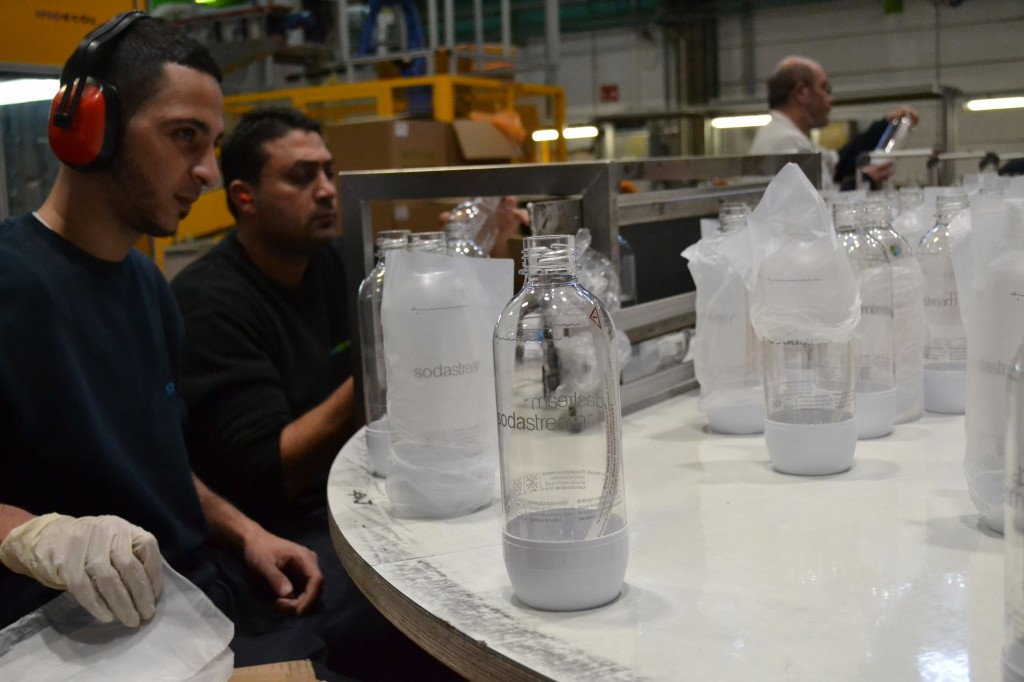 Palestinian workers in SodaStream's Ma'ale Adumim factory © Jessica Abrahams