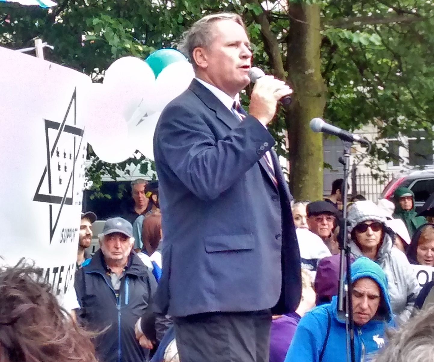 Col. Richard Kemp at SFI's Rally for Israel and peace Brighton UK