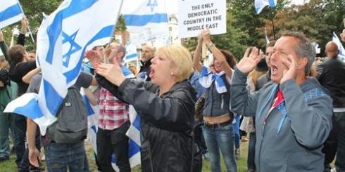 Israel supporters turn out in Brighton