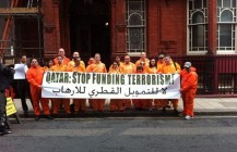 Kick terror out of football protest against Qatar funding of terrorist groups